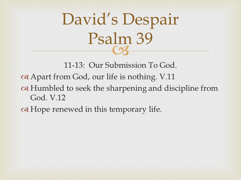 11-13: Our Submission To God.