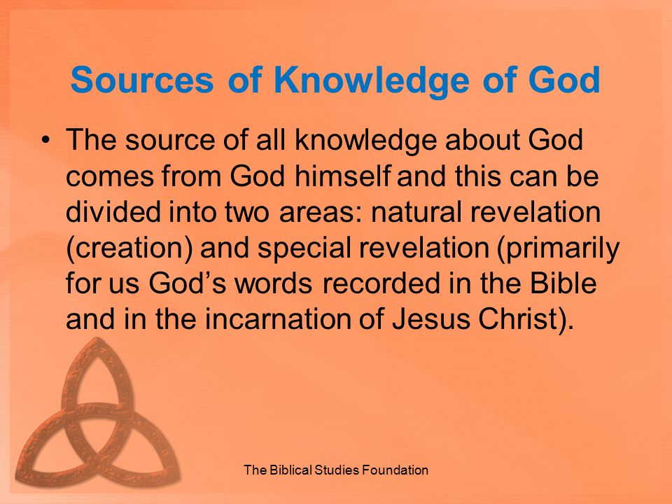 Sources of Knowledge of God