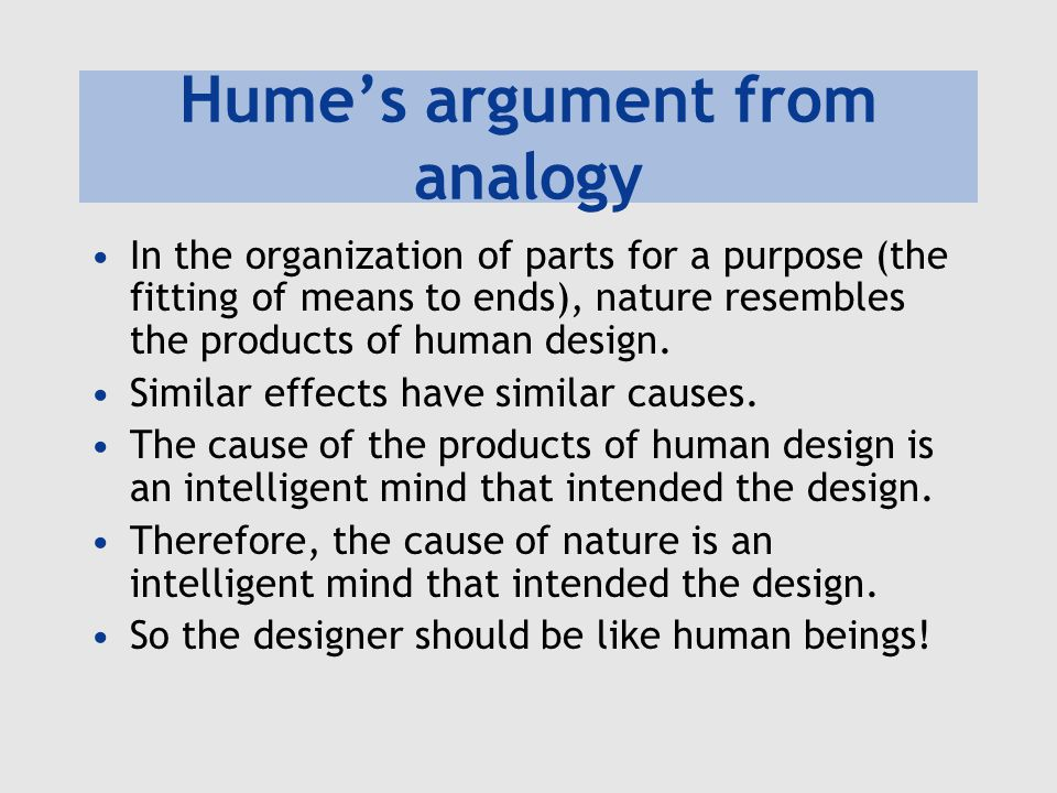 Hume's argument from analogy