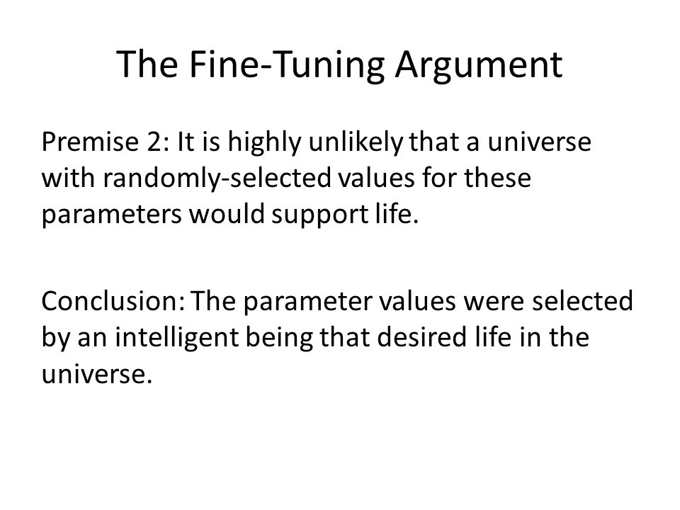 The Fine-Tuning Argument
