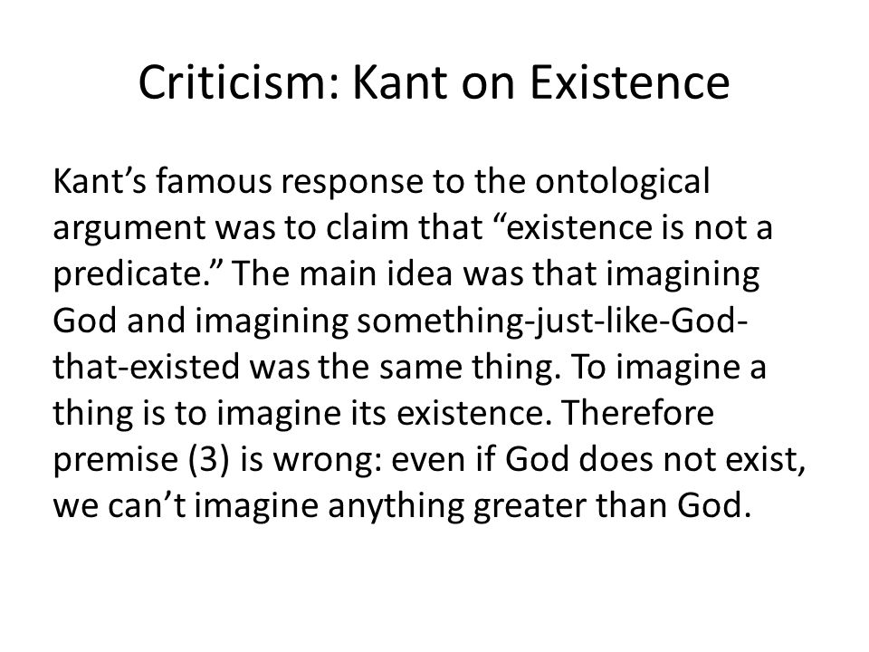 Criticism: Kant on Existence