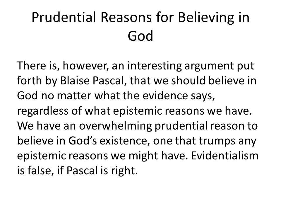 Prudential Reasons for Believing in God