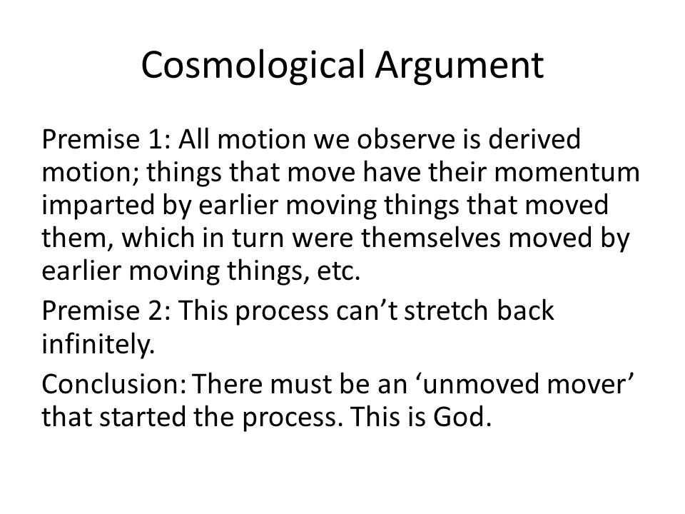 Cosmological Argument