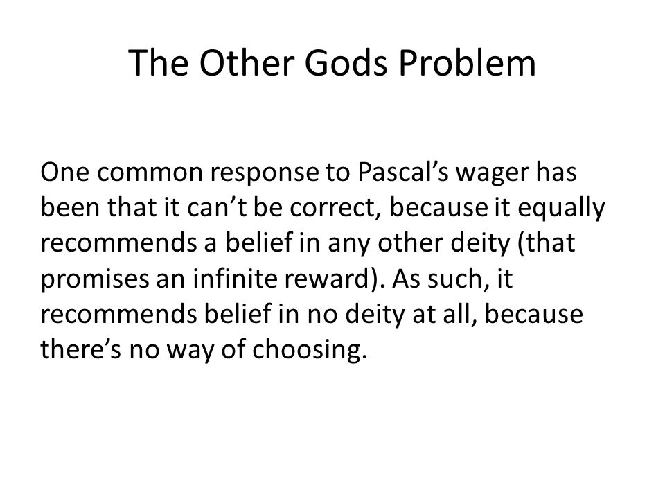 The Other Gods Problem