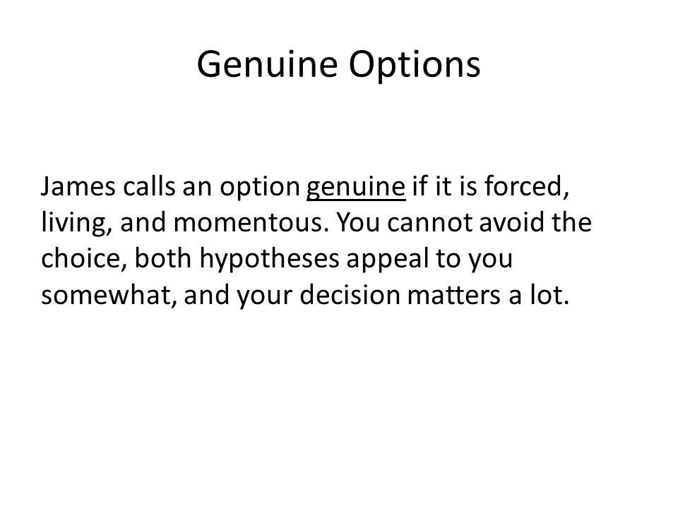 Genuine Options