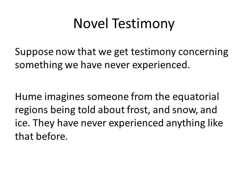 Novel Testimony