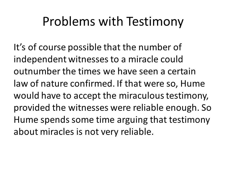 Problems with Testimony
