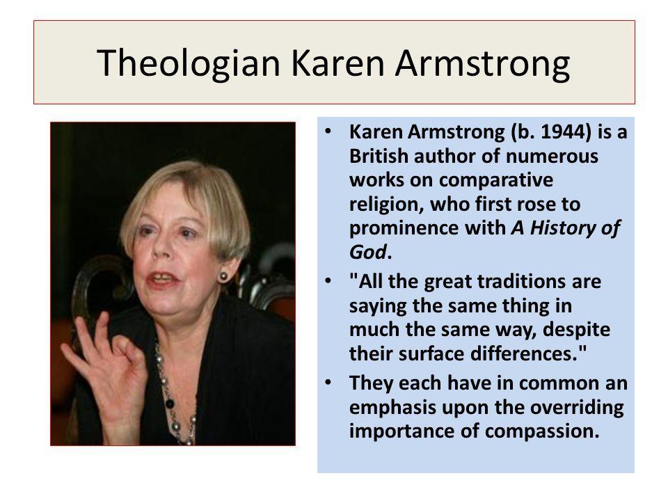 Theologian Karen Armstrong