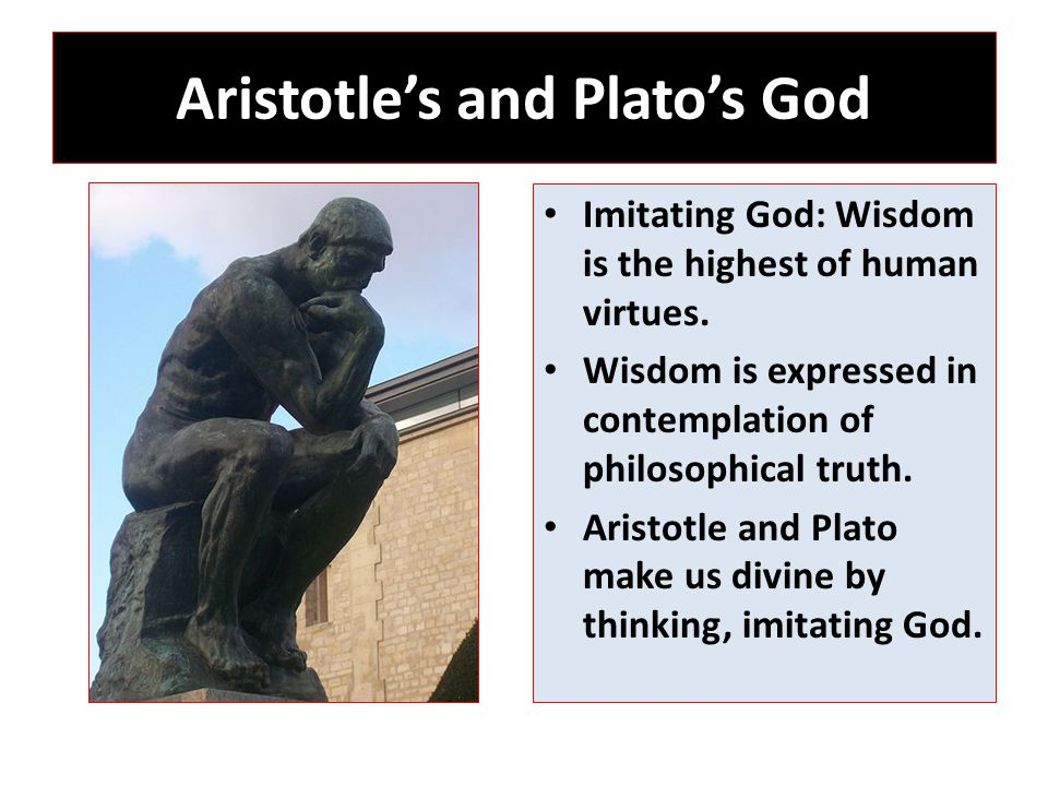 Aristotle's and Plato's God