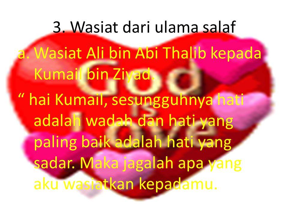 3. Wasiat dari ulama salaf