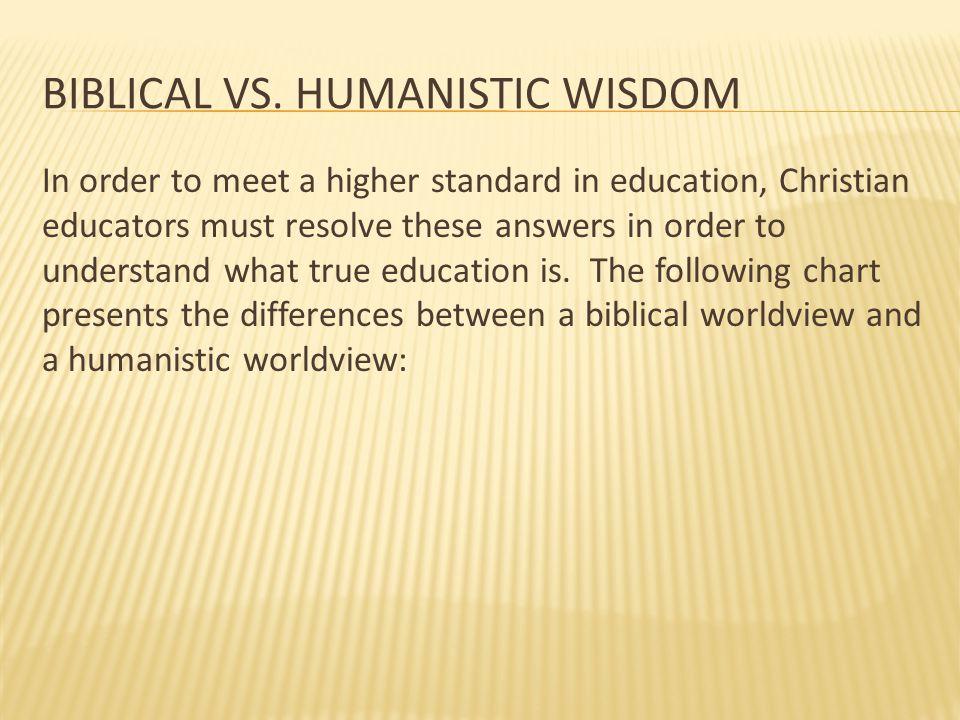 Biblical vs. humanistic wisdom