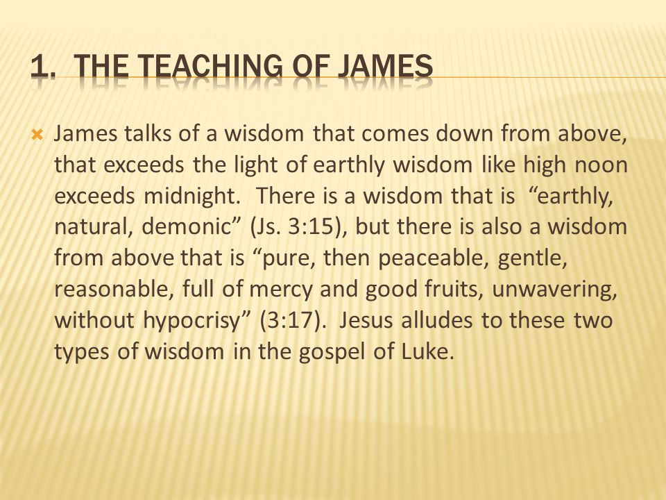1. the teaching of james