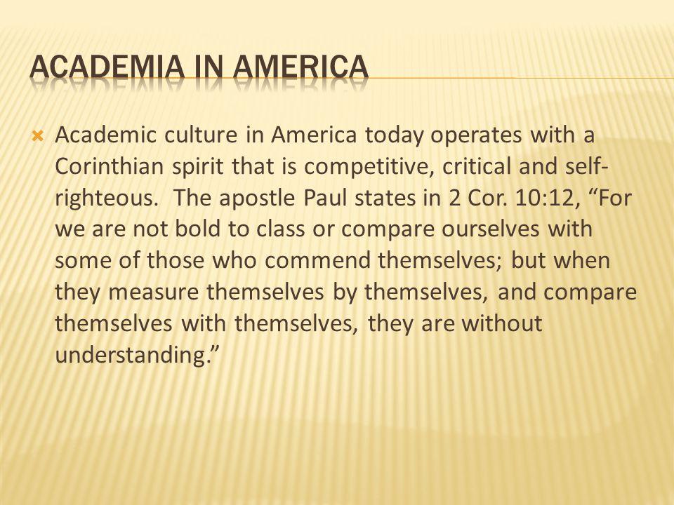 academia in america