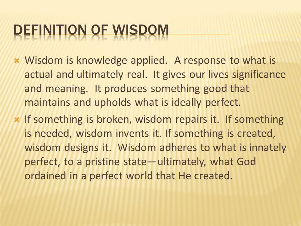 Definition of wisDom