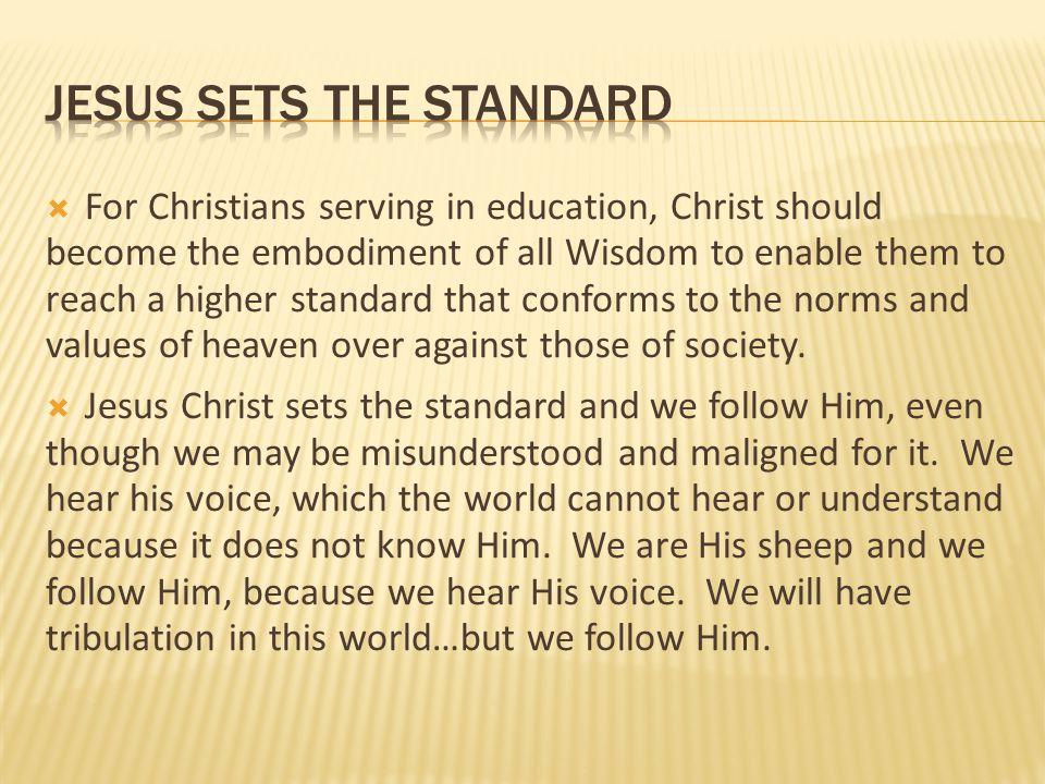 jesus sets the standard
