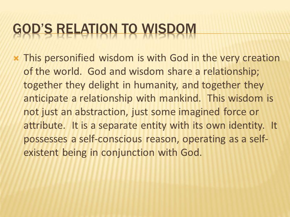 God's relation to wisdom