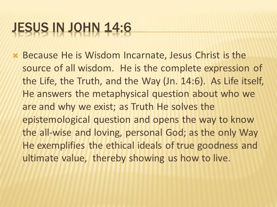 jesus in john 14:6