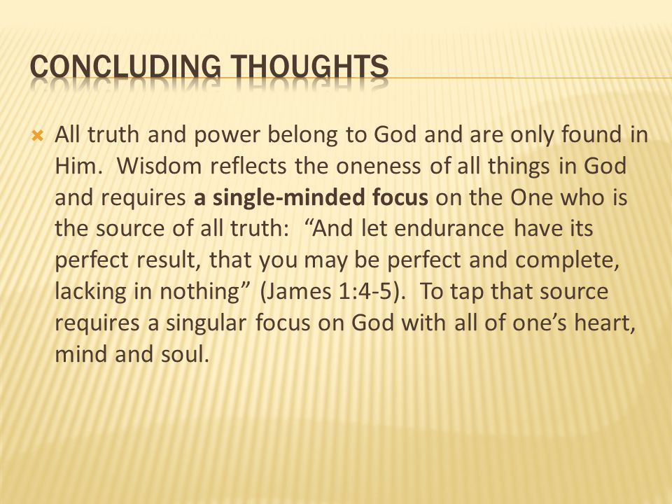 CONCLUDING THOUGHTS