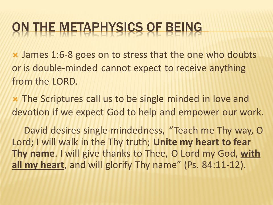 On the metaphysics of being