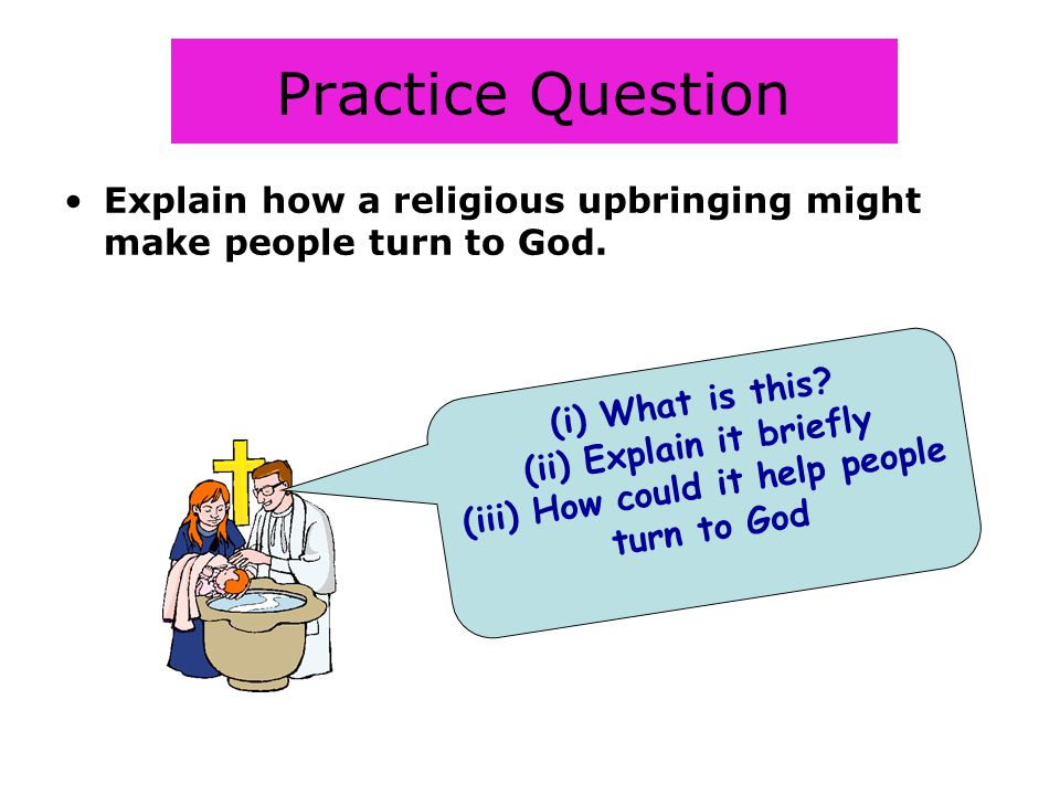(ii) Explain it briefly (iii) How could it help people turn to God
