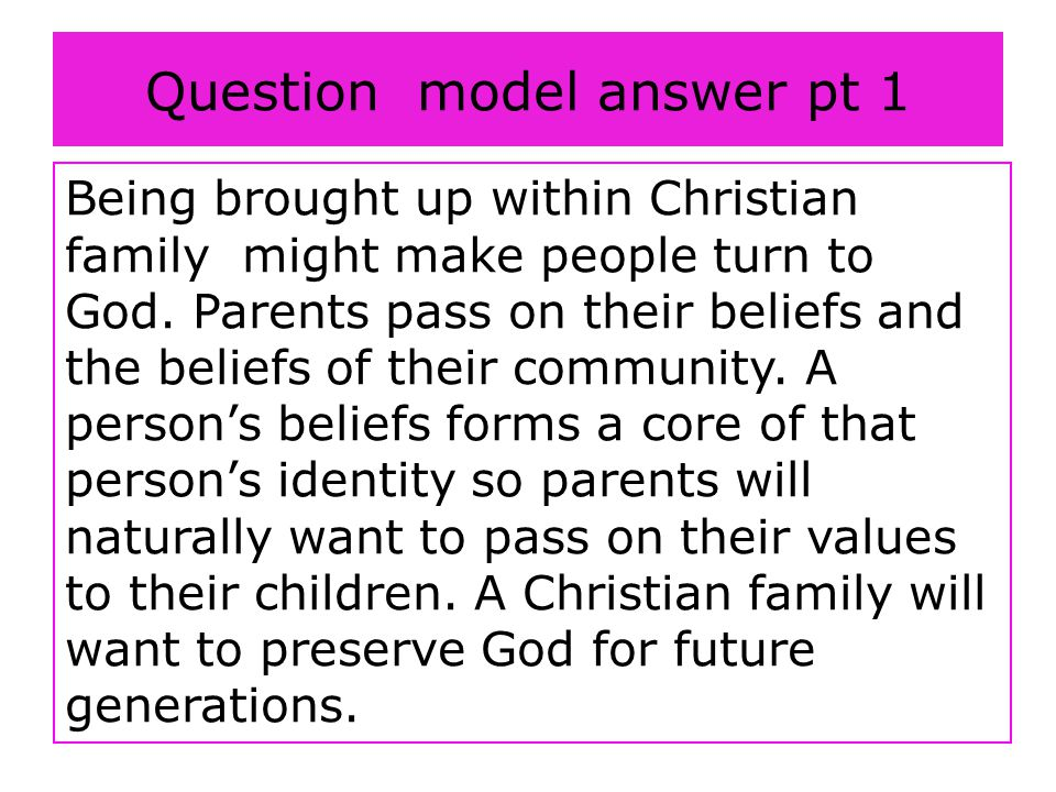 Question model answer pt 1