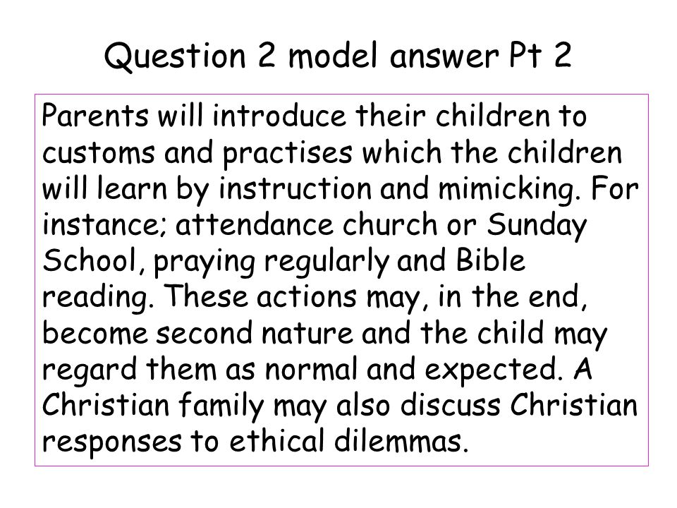 Question 2 model answer Pt 2