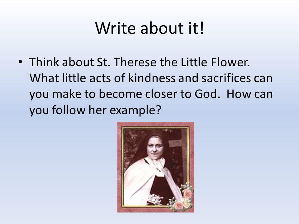 Write about it!