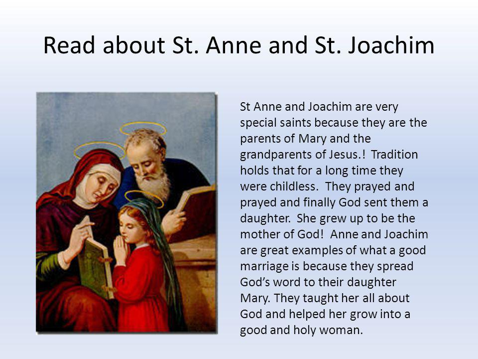 Read about St. Anne and St. Joachim