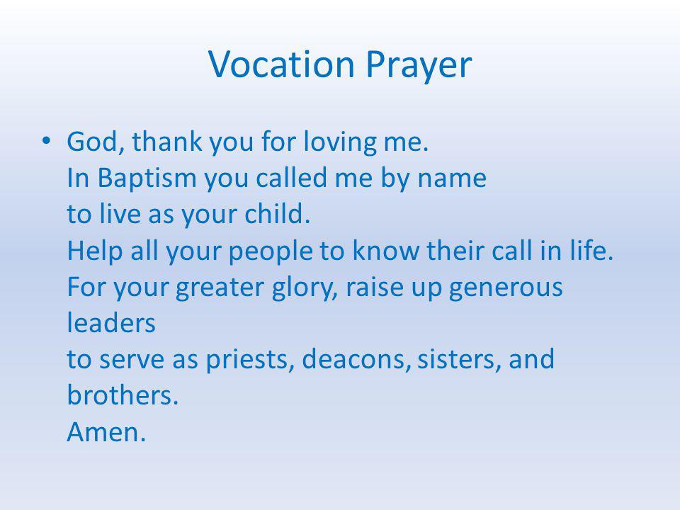 Vocation Prayer