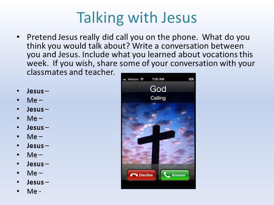 Talking with Jesus