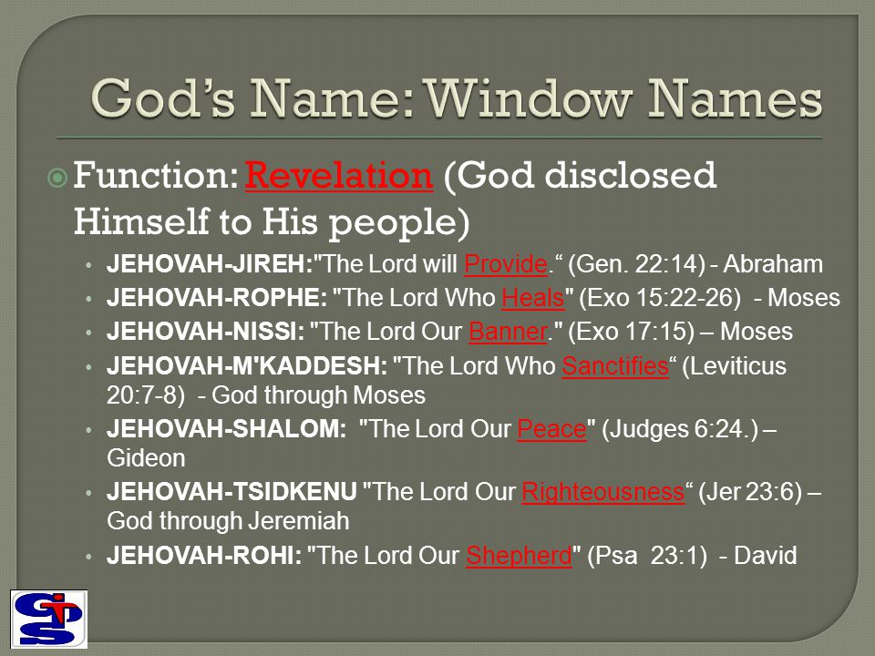 God's Name: Window Names