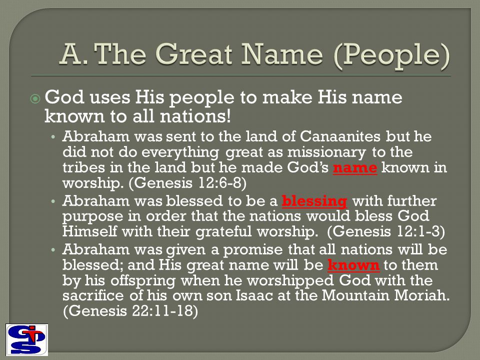 A. The Great Name (People)