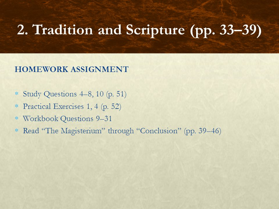 2. Tradition and Scripture (pp. 33–39)