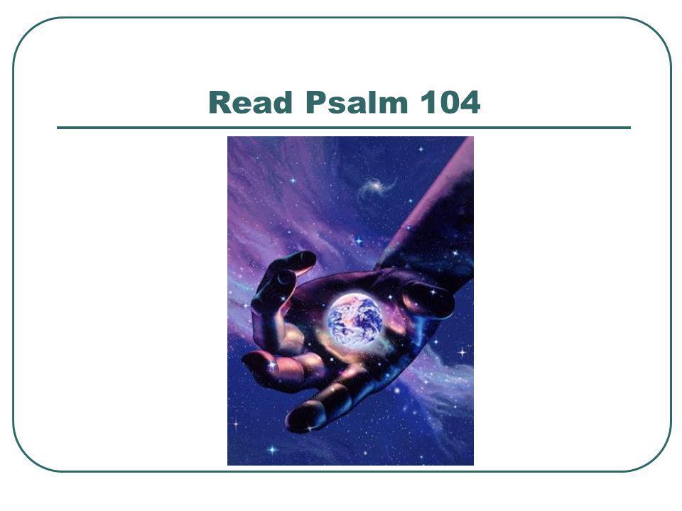 Read Psalm 104