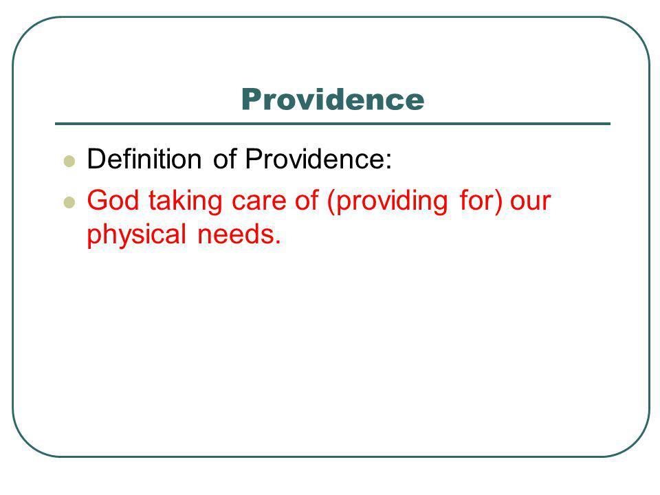 Providence Definition of Providence: