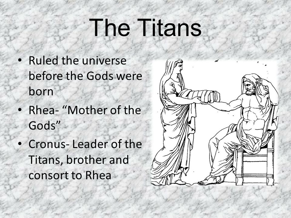 The Titans Ruled the universe before the Gods were born