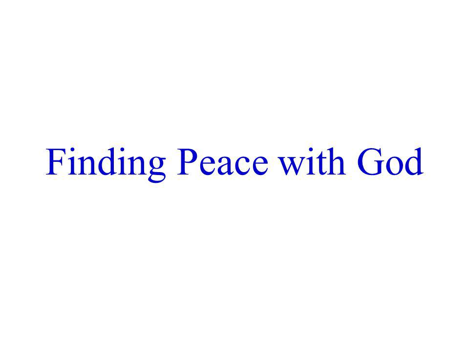 Finding Peace with God