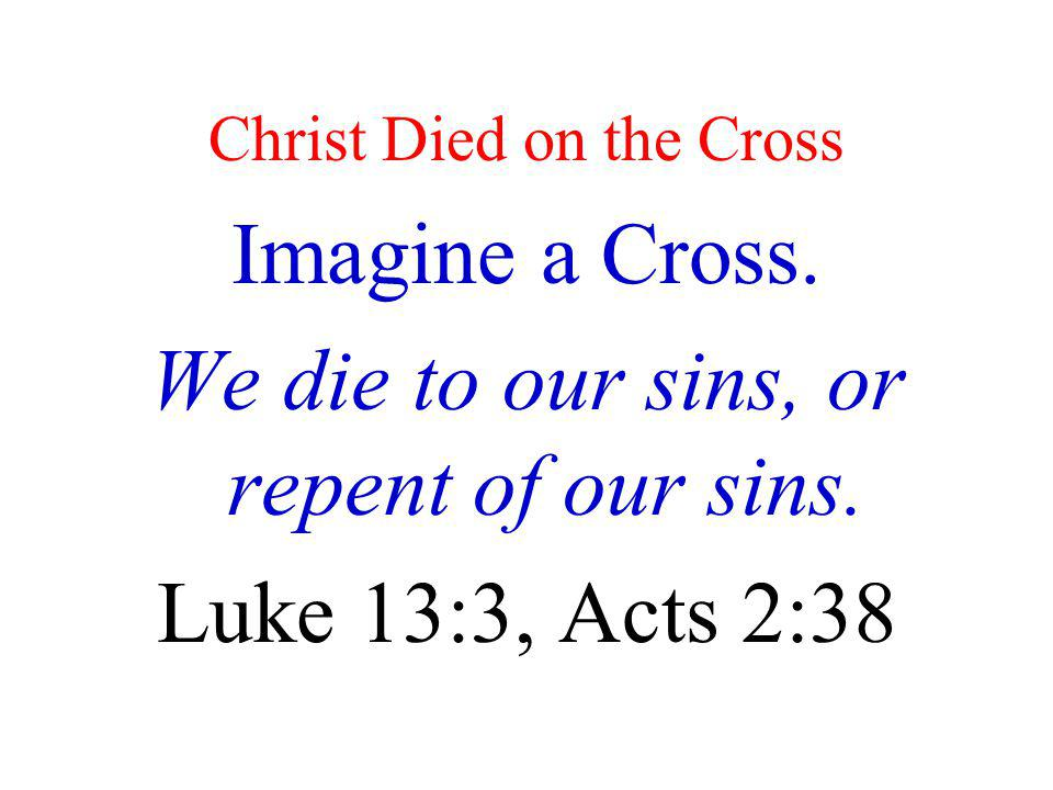 Christ Died on the Cross
