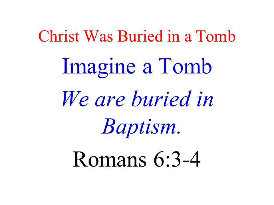 Christ Was Buried in a Tomb