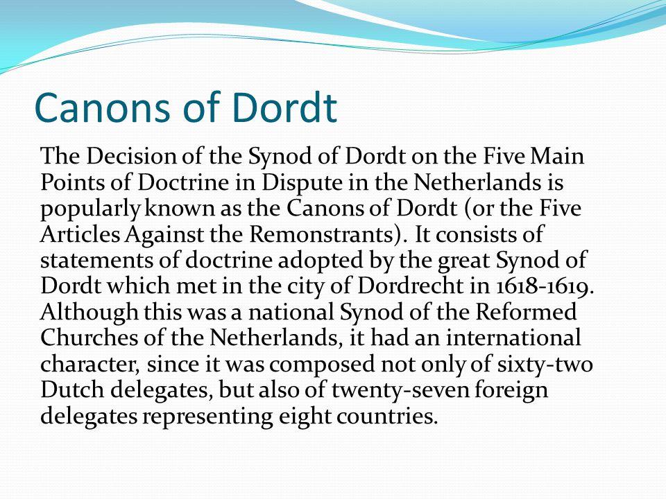Canons of Dordt