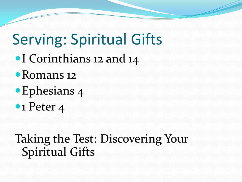 Serving: Spiritual Gifts