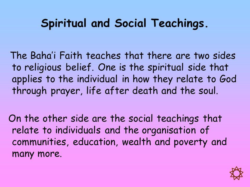 Spiritual and Social Teachings.