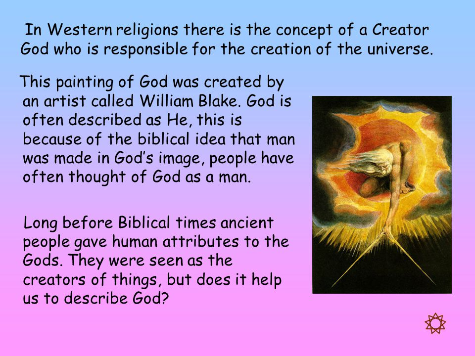 western concepts of god In the western world, the concept of god is the embodiment of a book of rules or laws - the word is the lord and the lord is the word the word and the lord are synonymous in most western religions the rules come in the form of a bible tenets of a religion commandments a sacred book a set of ancient scrolls etc.