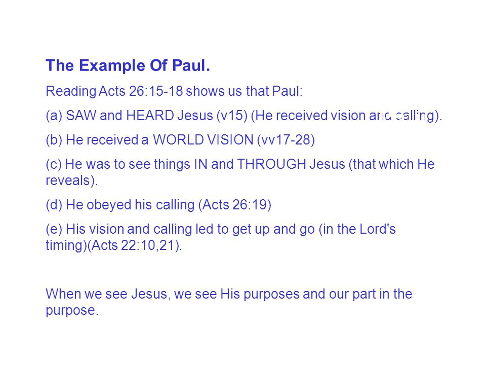 The Example of Paul The Example Of Paul.