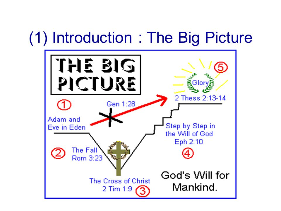 (1) Introduction : The Big Picture
