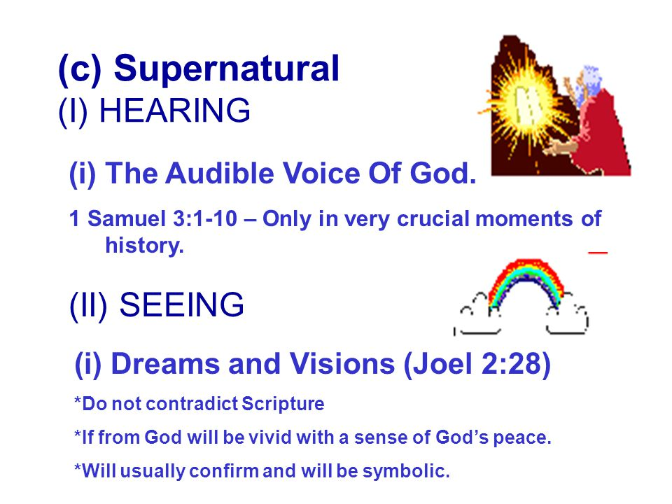 (c) Supernatural (I) HEARING