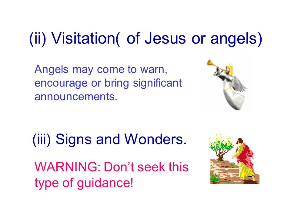 (ii) Visitation( of Jesus or angels)