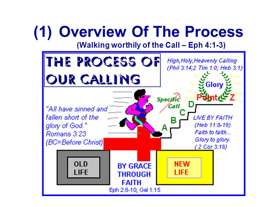 Overview Of The Process (Walking worthily of the Call – Eph 4:1-3)