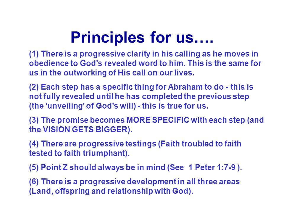 Principles for us….