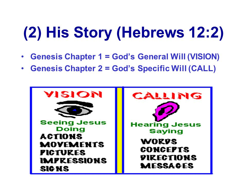 (2) His Story (Hebrews 12:2)